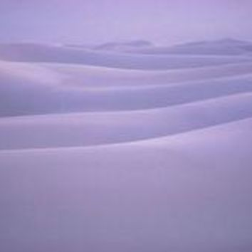 Shifting Dunes Of Gypsum Cover White Sands National Monument