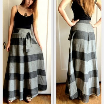 4 gore Maxi Skirt High Waist