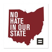 Human Rights Campaign Store | LGBTQ | No Hate In Our State Bumper Sticker | States
