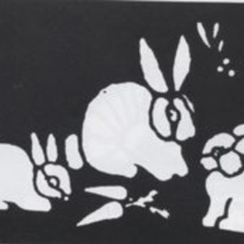 Stencil Bunnies Brass Fp237