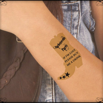Temporary Tattoo Cowgirl Boot Bachelorette Party 4 Wrist Tattoos Waterproof Thin Durable Fake Tattoos