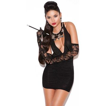 Loa Deep V Mini Dress