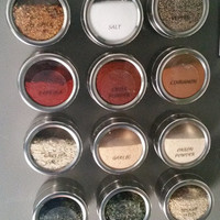 Magnetic Spice Tins with 30 Clear and Round Spice by SplendidDecor