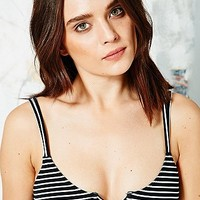 Cut-Out Bikini Top in Stripe Print - Urban Outfitters