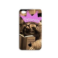 Adorable Princess Cute Cover Funny Sloth Phone Case iPhone Cool Fun Girly Girl