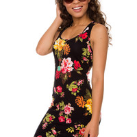 Mamma Mia Floral Dress - Black
