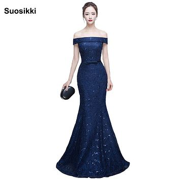 New Mermaid Prom Dresses long Elegant  squined cute sexy Formal Evening dress Fishtail Gown Suosikki Robe de soiree