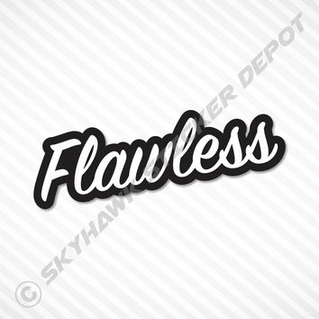 Flawless Sticker Vinyl Decal Japan Car JDM Window Sticker Laptop Macbook Decal