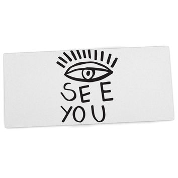 "Vasare Nar ""Eye See You"" White Desk Mat"