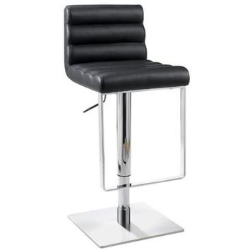 Chintaly 0830 Pneumatic Gas Lift Adjustable Height Swivel Stool In Black