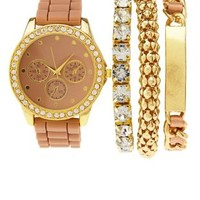 Rubber Watch & Bracelets - 4 Pack by Charlotte Russe