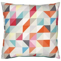 Buy John Lewis Geometric Print Cushion, Multi online at JohnLewis.com - John Lewis