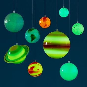 Ceiling Solar System Kit in Mobiles & Garlands | The Land of Nod