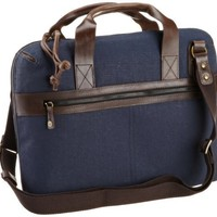 J.Fold Men's Consulate Briefcase, Navy, One Size