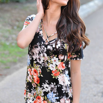 Go For It Floral Top