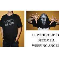 Doctor Who - Don't Blink Weeping Angel Unisex Flip Up Shirt