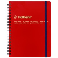"Rollbahn Notebook Red Small 4.25 x 5.5"" Or Large 5.5 x 7"""