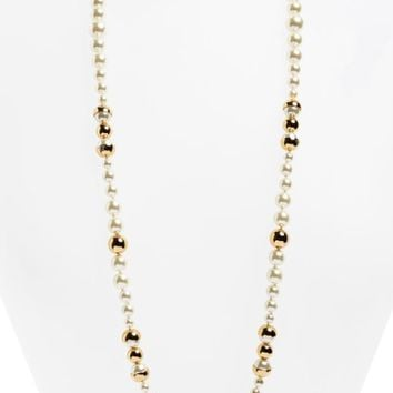 Tory Burch Imitation Pearl Strand Necklace | Nordstrom