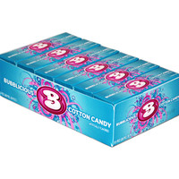 Bubblicious Bubble Gum Packs - Cotton Candy: 18-Piece Box