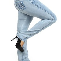 Plus Size Booty Lifter Pocket Light Jeans, Plus Size Clothing, Club Wear, Dresses, Tops, Sexy Trendy Plus Size Women Clothes