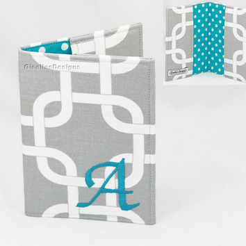 Personalized Passport Cover / Initial Passport Holder / Custom made Passport Cover.