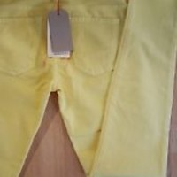 New NWT Current Elliott Skinny Crop Ankle Jeans Canary Yellow - 29 / 7/8 $178 RT