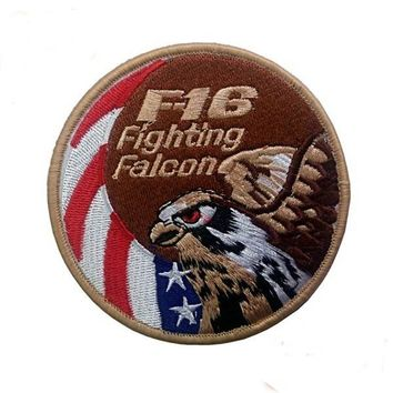F16 fighting falcon swirl Patch Military USAF hook back eagle tactical patches US Air Force Fighter Jet Morale for cap jacket