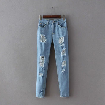 Summer Heavy Work Pants Jeans [8864337415]