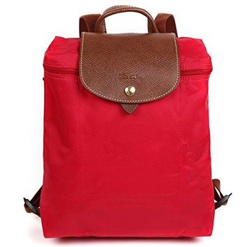 Longchamp Le Pliage Red Garance Foldable Backpack