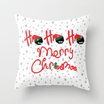 ho ho ho little santa Throw Pillow by cindys