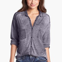 Rubbish® Knit Button Front Shirt (Juniors) | Nordstrom