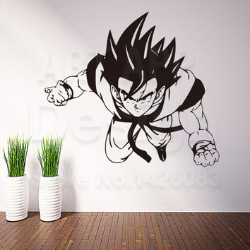 Art Design home decoration Vinyl cartoon Saiyan Wall Sticker house decor removable house decor dragon balls decals in rooms