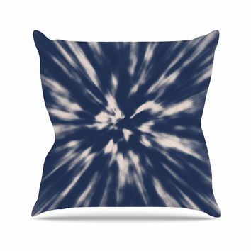 "Nika Martinez ""Indigo Tie Dye"" Blue Urban Outdoor Throw Pillow"