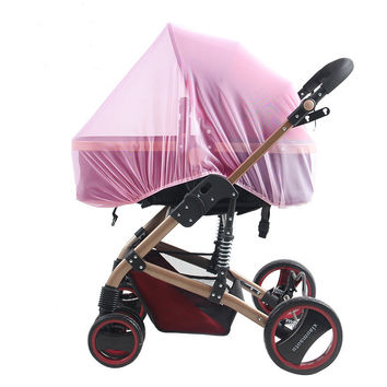 Kids Stroller Mosquito Net Pram Protector Baby Carriage Pushchair Fly Insect Bug Cover Baby Stroller Bed Mesh Crib Netting L835