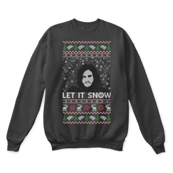 ICIKON7 Jon Snow Let It Snow Game Of Thrones Ugly Christmas Sweater