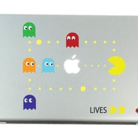 Pac Man Game Mac Decals Apple MacBook Decal by MacBookDecalPro
