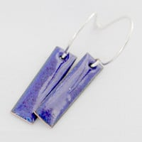 Deep Sea Blue Enamel Earrings