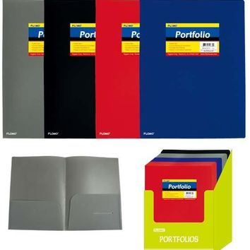 Poly Portfolio Folder with Two Inner Pockets - CASE OF 48