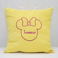 Pillow Covers Decorative Minnie Mouse Ears Girl Name Pillow Case Bedroom Room Home Nursery Decor Throw Pillows V12: Amazon.ca: Home & Kitchen