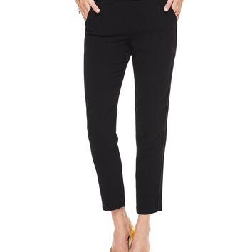 Pitch Black Drapey Crepe Tuxedo Pant by Juicy Couture,