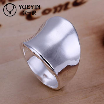 White 8 2015 NEW silver plated Thumb rings Hot Sell Gifts Jewelry for women