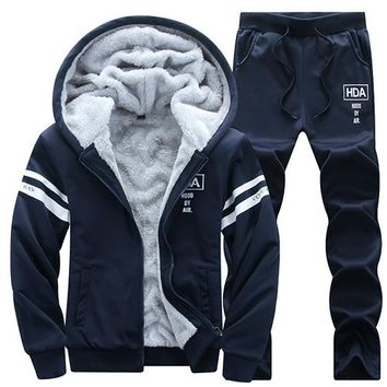Brand New Men's VELALISCIO Two Piece Set Tracksuit with Hoodie