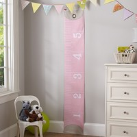 Pink Measuring Tape Growth Chart