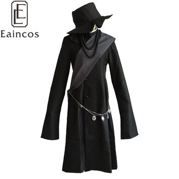 Black Butler Kuroshitsuji Undertaker Cosplay Halloween Party Costume Full Set Customized Size