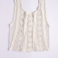 dELiAs > Allover Crochet Tank > clothes > tops > view all tops