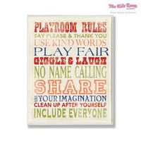 The Kids Room by Stupell Playroom Rules Wall Plaque