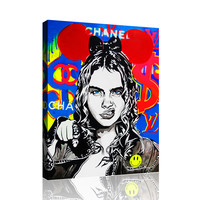 Chanel Girl Power Wall Art Canvas
