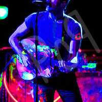 Mylo Xyloto Era Chris Martin of Coldplay in Neon, Digital Painting Art Print Poster