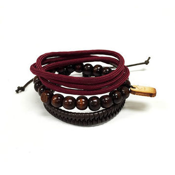 Brown and Burgundy 3 pack