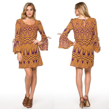 Geometric Print Gameday Dress - PRE ORDER ONLY